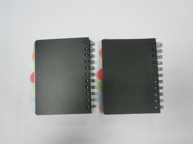 A6 4 subject college ruled PP cover index notepad/notebook