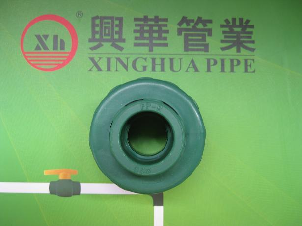 PPR fittings Plumbing material Plastic Adapter Union from China
