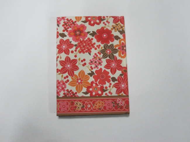 fabrics cover hardbound notebook/diary
