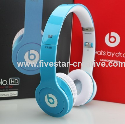 Beats Solo HD with ControlTalk by Dr.Dre Headphones Blue