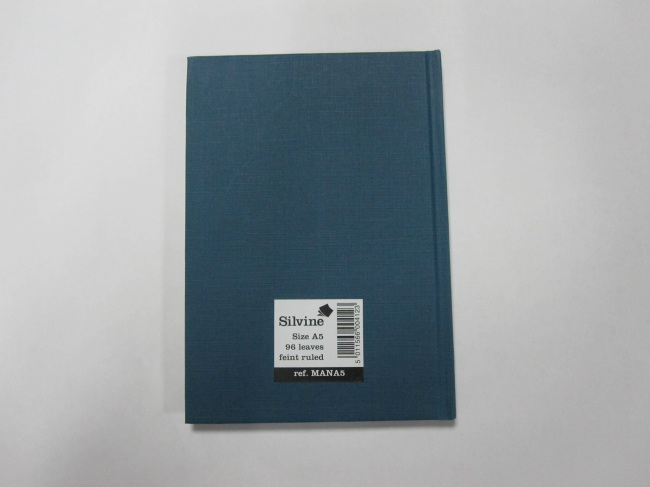 A5 hardcover hardbound notebook college/feint ruled