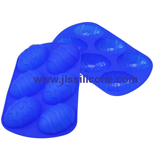 6 cavity easter egg silicone baking pan