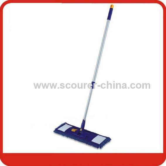 Chenille Flat Mop with telescopic handle 40*10cm frame size