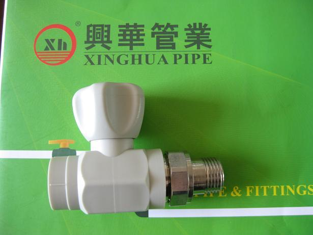 2013 popular PPRC Male Straight radiator Valves from China