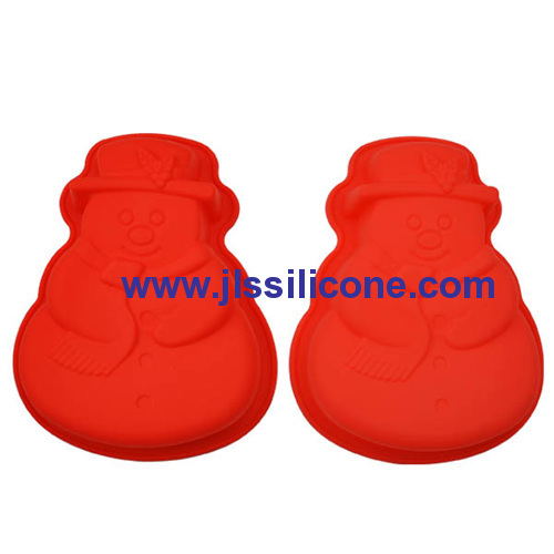 big snowman silicone baking pan molds