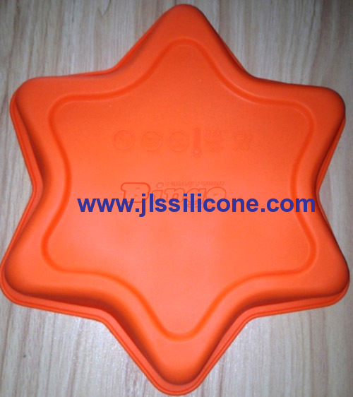 Big star bakeware silicone baking pan molds for cake or pizza