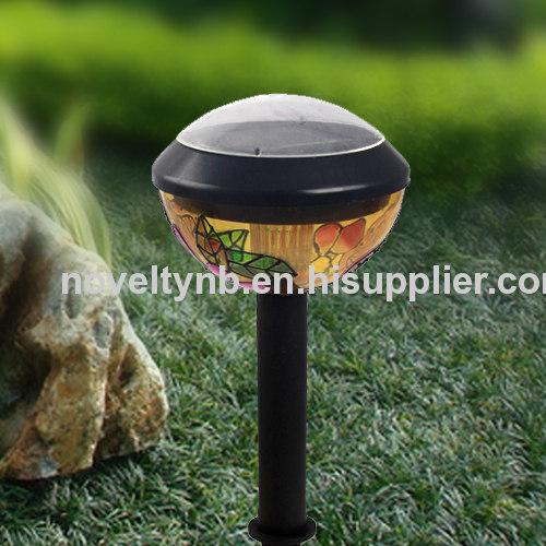 Oval plastic solar light