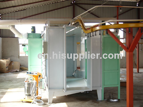 Powder Spray Booth With Centrifugal Fans For Manual Powder Coating
