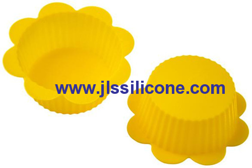 mini flower silicone cupcake baking molds and cake tins