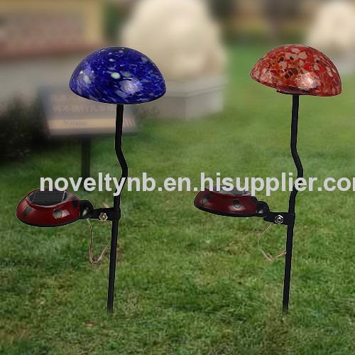 Solar mushroom garden light