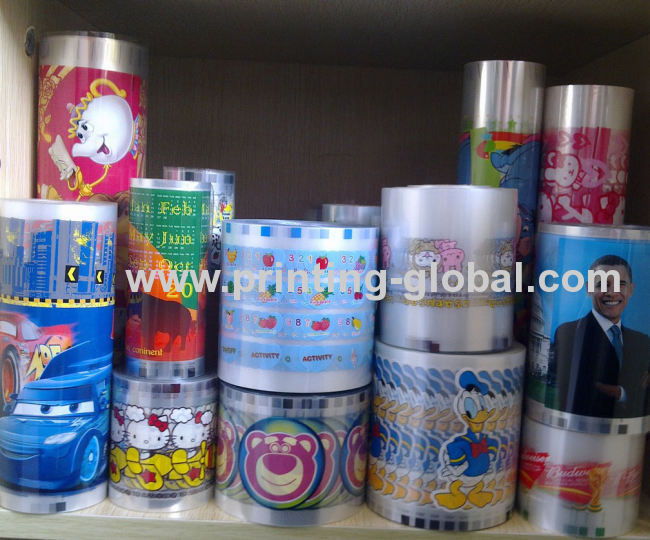 Storage box plastic cup bottle hot stamping printing stickers heat transfer printing