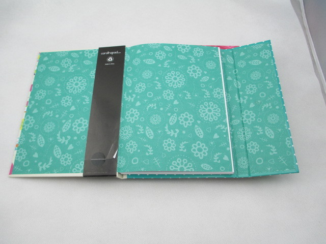 A5 hardcover notebook with three fold