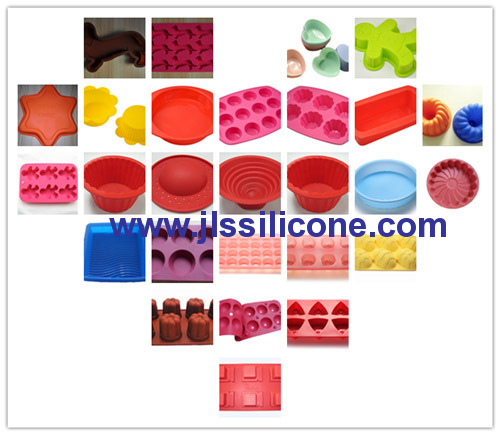8 cavity cake and bread loaf bakeware pan silicone baking molds