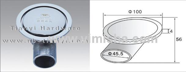 Round High Grade Brass Chrome Pplated Anti-odour Floor Drain with Elbow
