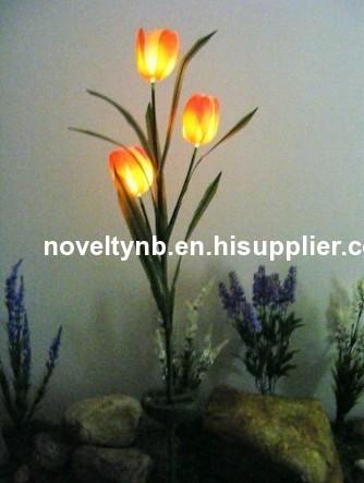 solar tulip flower light