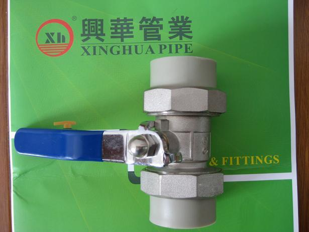 PPRC Fittings plumbing material Double Union Ball Valve