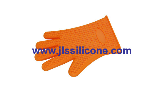 full finger and embossed silicone oven mitts glove and pot holder