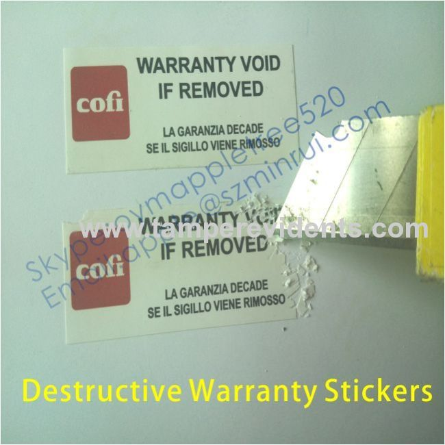 Labels Stickers Tamper Evident Warranty Void if Broken Seals 25mm diameter