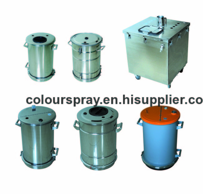 stainless steel powder coating tank