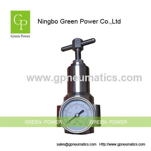Stainless steel SS316 pneumatic high pressure regulator