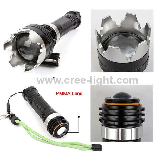 New ! Focus 10W CREE XML T6 High Power Flashlight With Attack Head ACK-1176