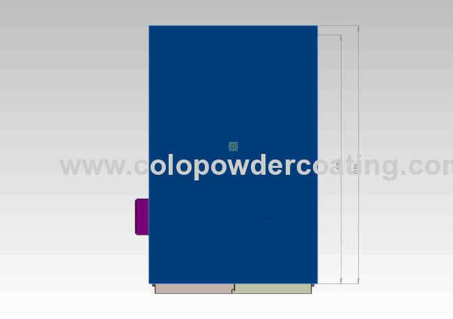 High quality powder coat oven