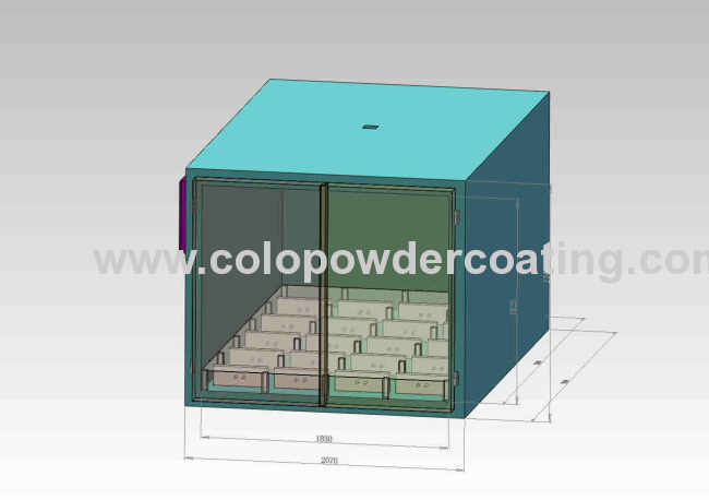 High quality powder coat oven