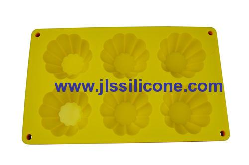 6 sunflower silicone baking molds cake bake pan