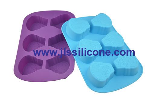 6 cavity ice cream silicone baking molds cake bake pan
