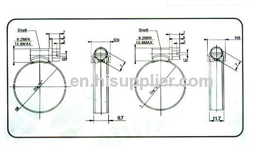 British type hose clamps