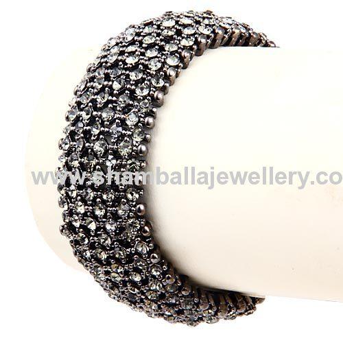 new 2013 Wrap pave Crystal Stretch Bracelet ninghuiarts