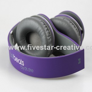 JustBeats Solo With ControlTalk By Dr Dre Headphones Purple