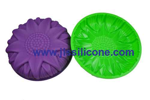 big sunflower silicone cake baking molds pie bakeware mould