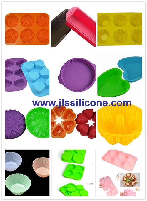 conjoined 6 heart silicone baking molds cake bake pan