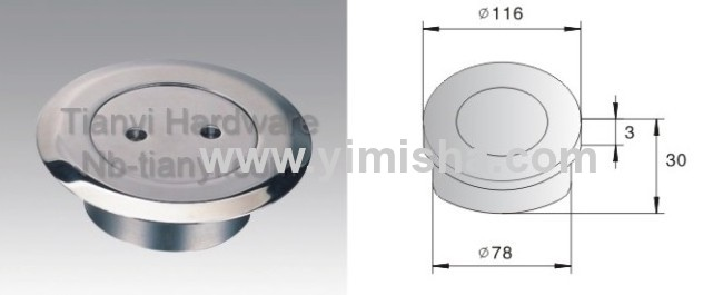 Circular YIMISHA Brass Chrome Plated Floor Drain with Clean Out