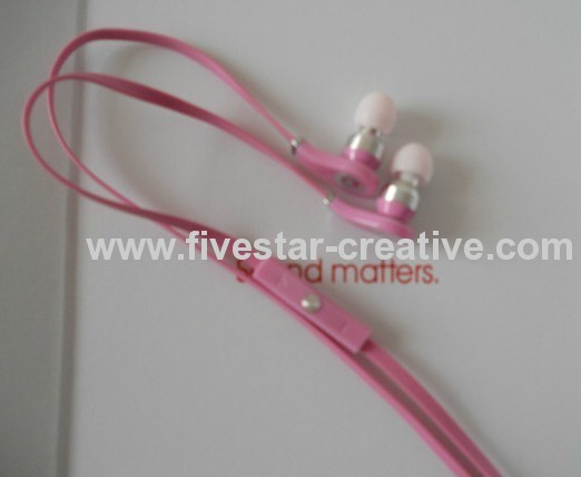 Beats by Dr Dre Tour iPod iPhone Control In-Ear Pink Headphones with Built-in Mic