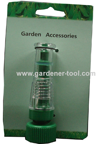 Plastic 2-function transparent garden water nozzle