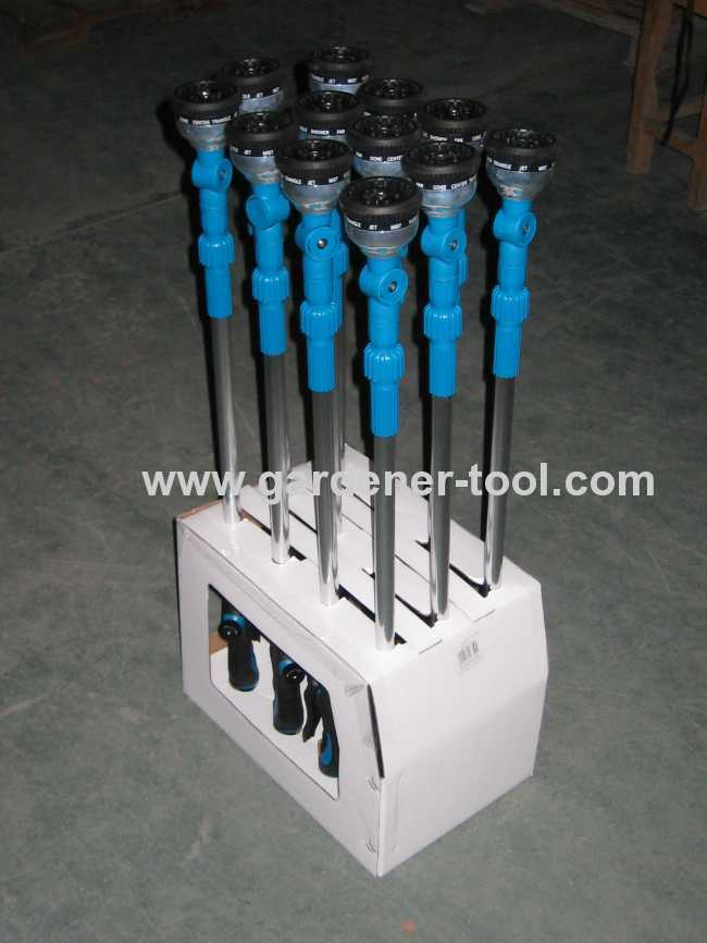 10 function short water wand with 360 degree head and 16length