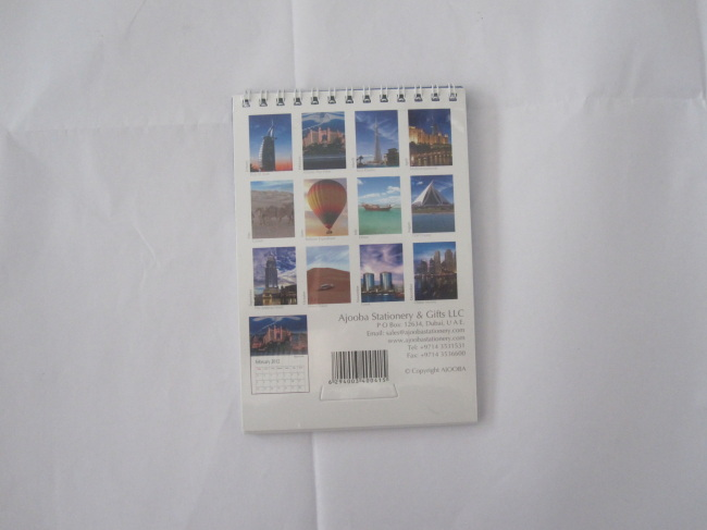 Calendar small size with spiral