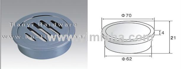 Brass Chrome Plated Floor Drain with Outlet Diameter 62mm