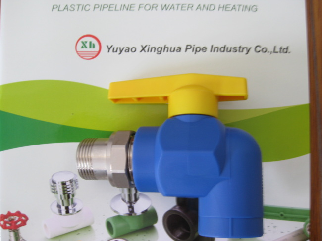 PP-R fittings and pipe MAle Elbow Radiator Valves