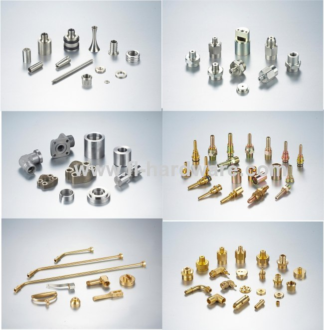 Precision brass machined parts threading with good quality and big quantity