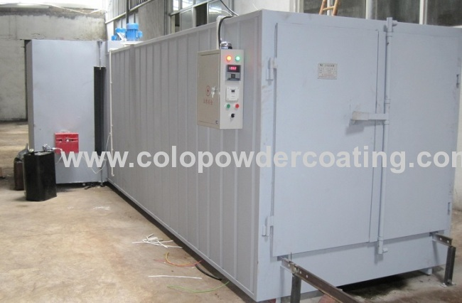 Gas Oil Petrol Powder Coating Oven Semi-automatic 6300 * 2000 * 1800mm