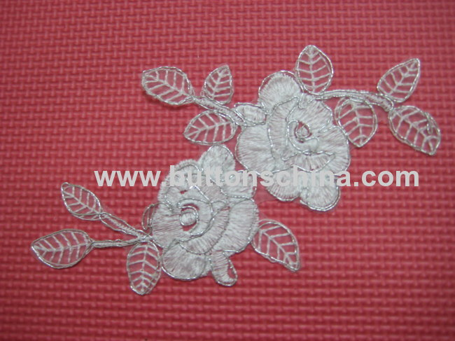 WHITE EMBROIDERY COLLAR LACE