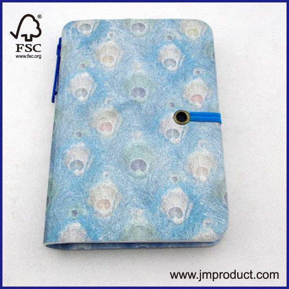 laser and card cover notebook