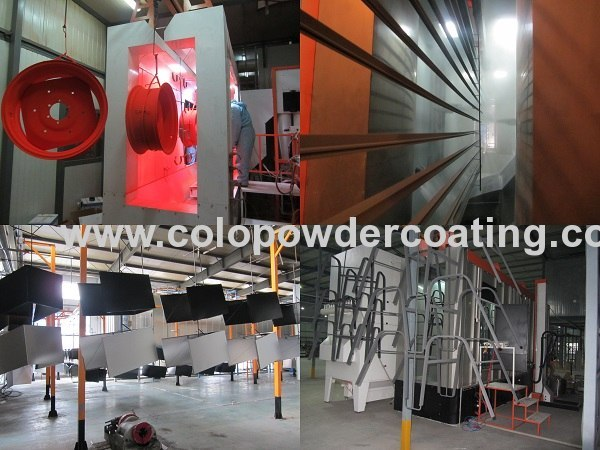 Electrostatic Powder Coating Line, Conveyorized Powder Spray Lines