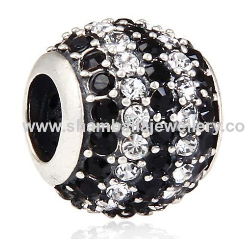 european silver jewelry accessories large hole crystal beads