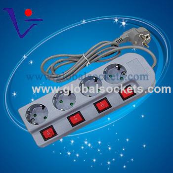 Office 250V German type sockets