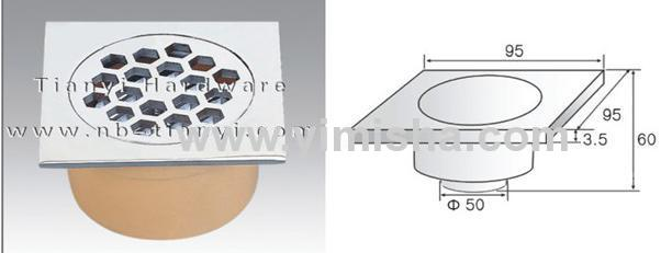 Square Medium-Sealed Anti-Odour Floor Drain