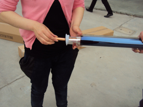 CE certificate Split pressurized evacuated tube with heat pipe Solar collector ( made in China )